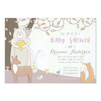Forest Animals – Woodland Baby Shower Invitation