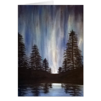 Forest Aurora Greeting Card