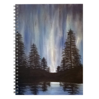 Forest Aurora Spiral Notebook