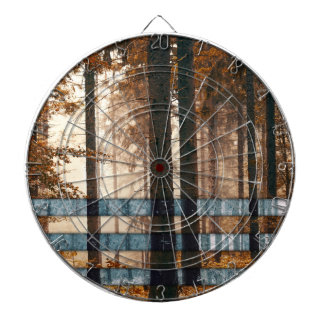 Forest autumn & winter dartboard