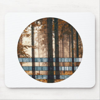 Forest autumn & winter mouse pad