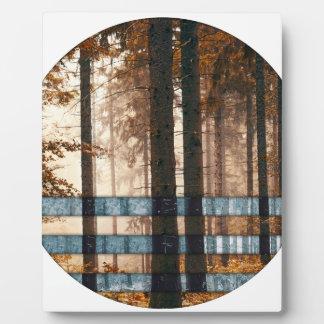 Forest autumn & winter plaque