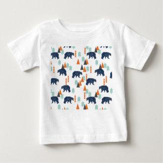 Forest Bear / Orange Mint Navy Blue /Andrea Lauren Baby T-Shirt