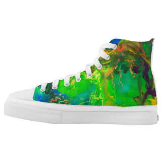 Forest before summer thunderstorm printed shoes