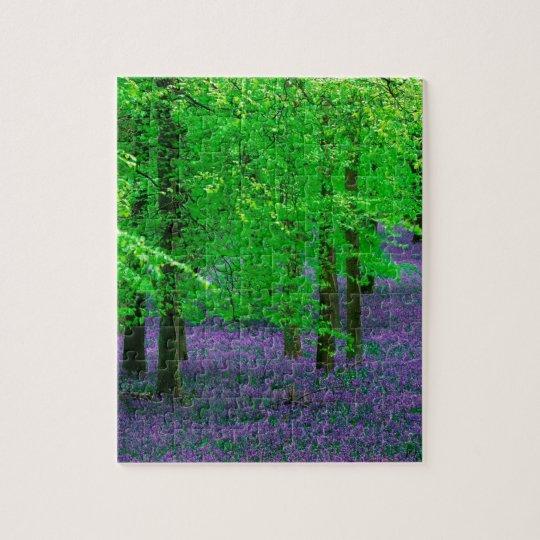Forest Blue Bells Beech Trees England Jigsaw Puzzle