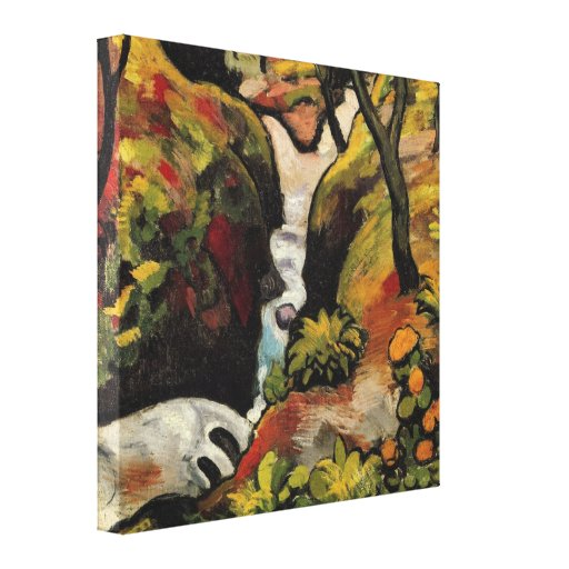 Forest Brook by August Macke Vintage Expressionism Gallery Wrapped Canvas