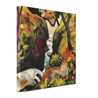 Forest Brook by August Macke Vintage Expressionism Stretched Canvas Print