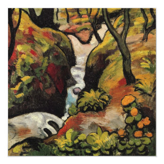 Forest Brook by August Macke Vintage Expressionism Custom Invitation