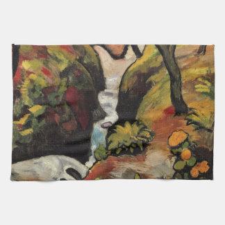 Forest Brook by August Macke Vintage Expressionism Tea Towel