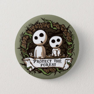 Forest Button! 6 Cm Round Badge