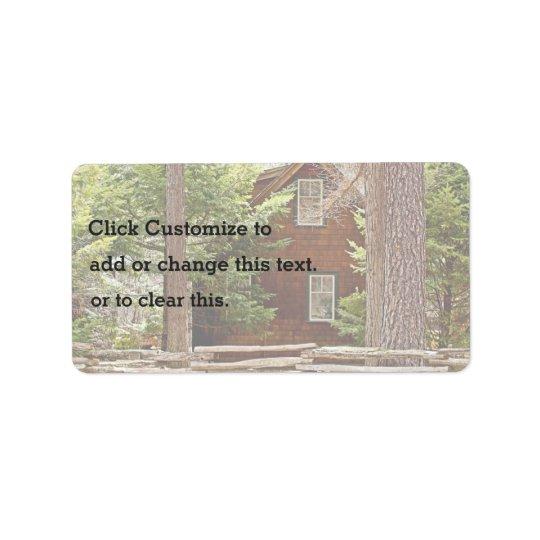 Forest Cabin Address Label