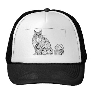 Forest Cat Art  Add Color Personalized Clothing Cap