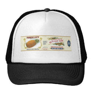 Forest City Sliced Pineapple VIntage Label Cap