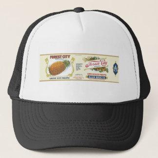 Forest City Sliced Pineapple VIntage Label Trucker Hat