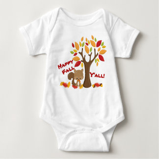 Forest Critters Happy Fall Y'all Baby Bodysuit