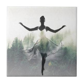 Forest Dancer Ceramic Tile