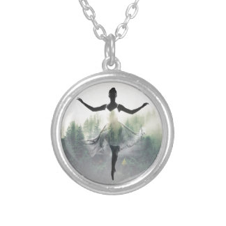 Forest Dancer Silver Plated Necklace