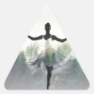 Forest Dancer Triangle Sticker