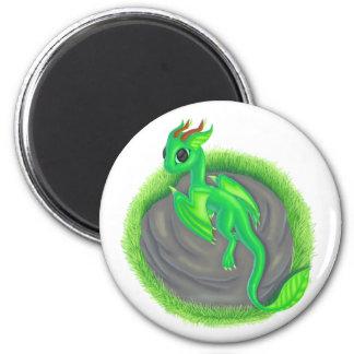 Forest dragon 6 cm round magnet
