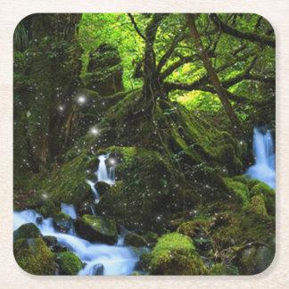 Forest Dreams Square Paper Coaster