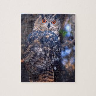 Forest Eagle Owl, Bubo bubo, Native to Eurasia 2 Jigsaw Puzzle