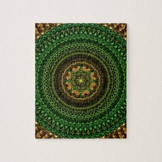 Forest eye Mandala Jigsaw Puzzle