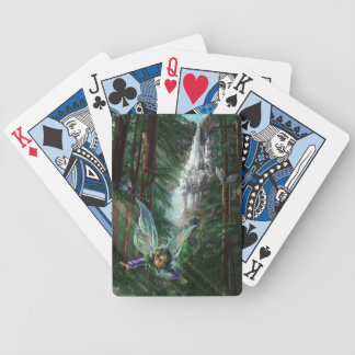 Forest Faires and Waterfall Castle Bicycle Playing Cards