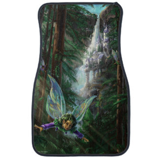 Forest Faires and Waterfall Castle Car Mat