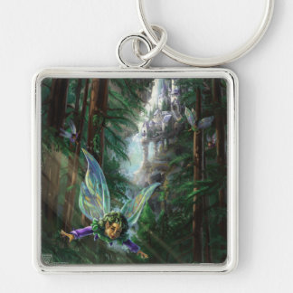 Forest Faires and Waterfall Castle Key Ring