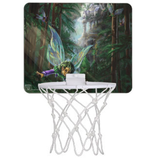 Forest Faires and Waterfall Castle Mini Basketball Hoop