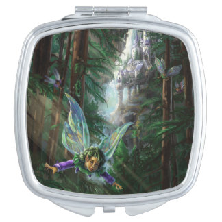 Forest Faires and Waterfall Castle Mirror For Makeup