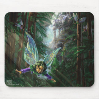 Forest Faires and Waterfall Castle Mouse Pad