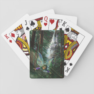Forest Faires and Waterfall Castle Playing Cards