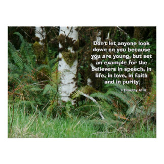 Forest Ferns Called by God Print
