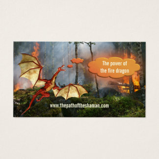 Forest Fire Shaman Fire Dragon Business Card