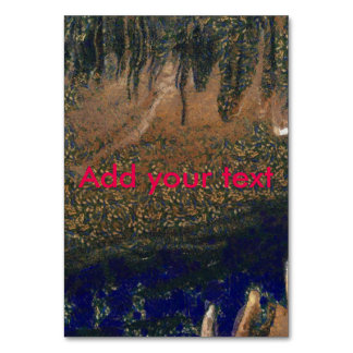 Forest floating on water reservoir card