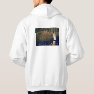 Forest floating on water reservoir hoodie