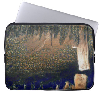 Forest floating on water reservoir laptop sleeve