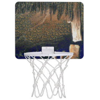 Forest floating on water reservoir mini basketball hoop