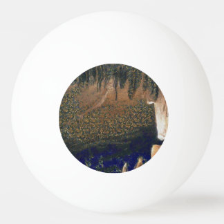 Forest floating on water reservoir ping pong ball
