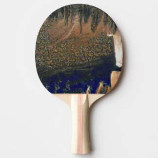 Forest floating on water reservoir ping pong paddle