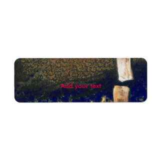 Forest floating on water reservoir return address label