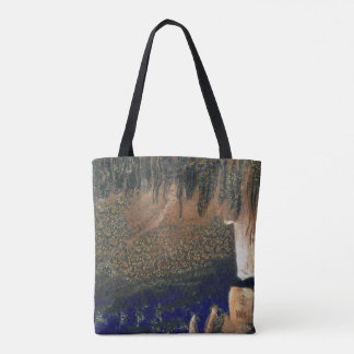 Forest floating on water reservoir tote bag