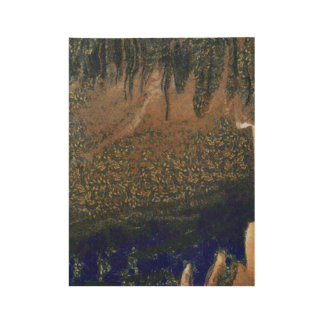 Forest floating on water reservoir wood poster