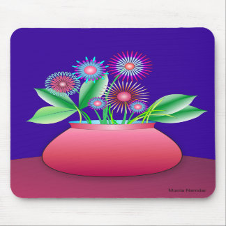 Forest flowers in a red pot mousepad