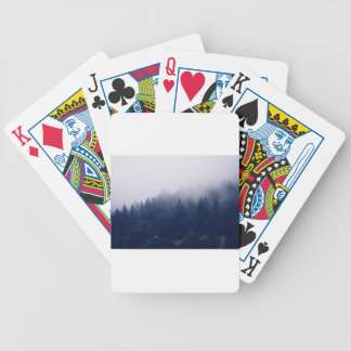 Forest Fog Bicycle Playing Cards