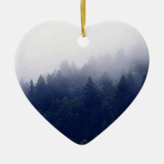 Forest Fog Ceramic Heart Decoration