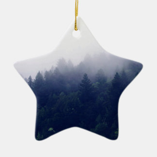 Forest Fog Ceramic Star Decoration