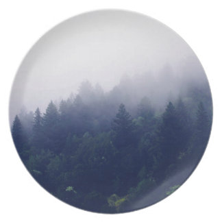 Forest Fog Party Plate