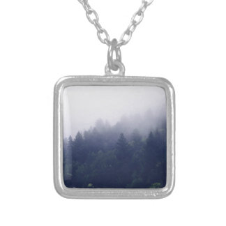 Forest Fog Silver Plated Necklace